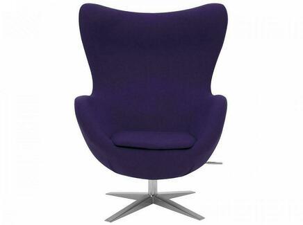 Кресло egg (ogogo) фиолетовый 81x110x69 см.