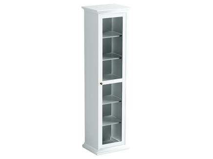 Шкаф-витрина (ogogo) белый 54x201x42 см.