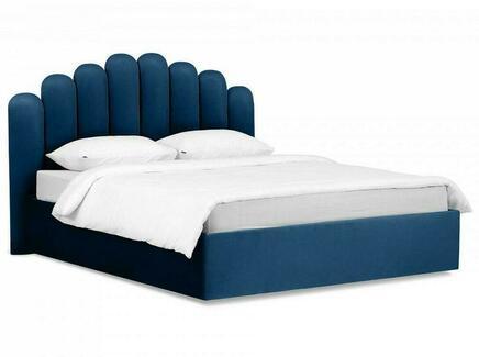 Кровать queen sharlotta (ogogo) синий 180x122x217 см.