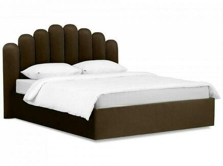 Кровать queen sharlotta (ogogo) коричневый 180x122x217 см.