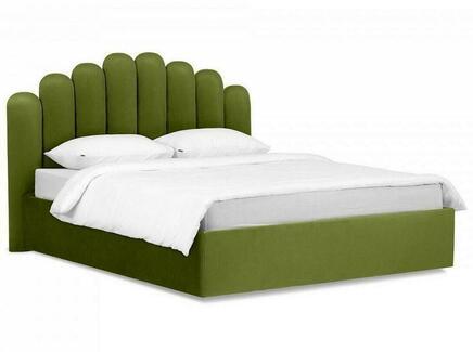 Кровать queen sharlotta (ogogo) зеленый 180x122x217 см.