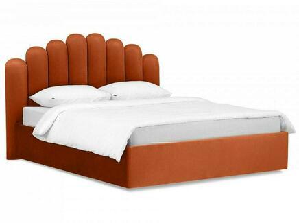 Кровать queen sharlotta (ogogo) оранжевый 180x122x200 см.