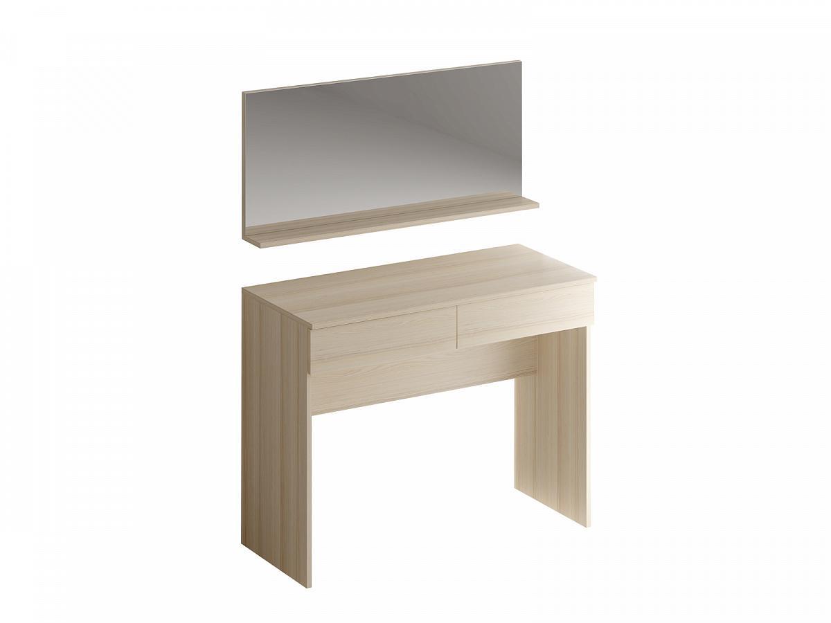 Туалетный столик с зеркалом uno (ogogo) серый 100x78x45 см.
