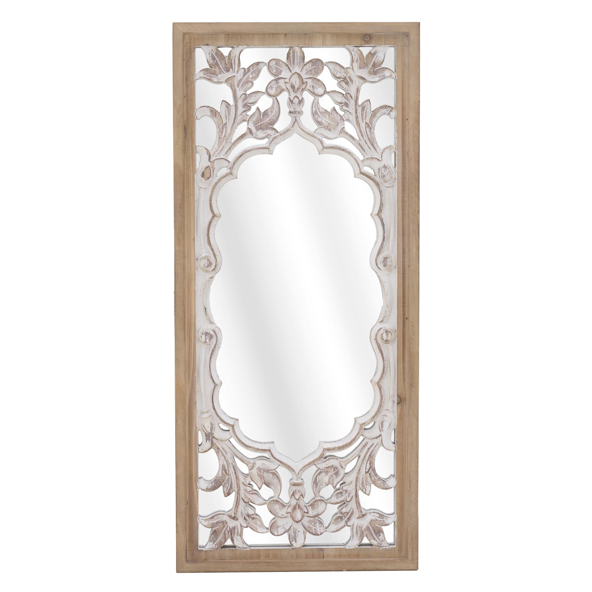 Зеркало настенное lethyn (to4rooms) бежевый 32x72x3 см.
