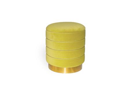 Пуфик dallas (my interno) желтый 38 см.