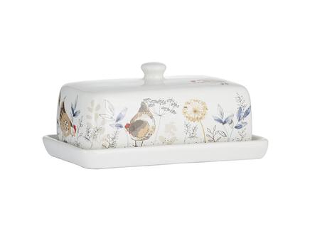 Масленка country hens (p&k) белый 18x8x11 см.