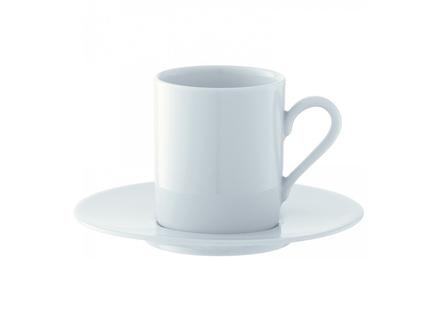 Набор чашек для эспрессо dine (4 шт) (lsa international) белый 12x7x6 см.