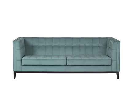 Диван palermo (garda decor) голубой 216x78x83 см.