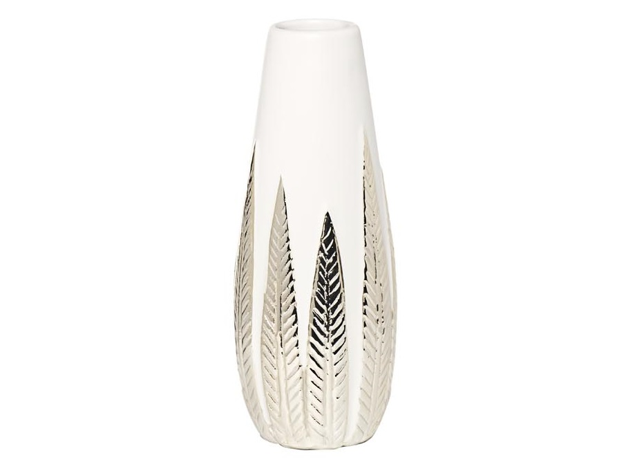 Ваза белая с декором (garda decor) мультиколор 28 см.