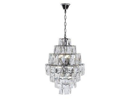 Люстра со стеклянными кристаллами (garda decor) прозрачный 64 см.