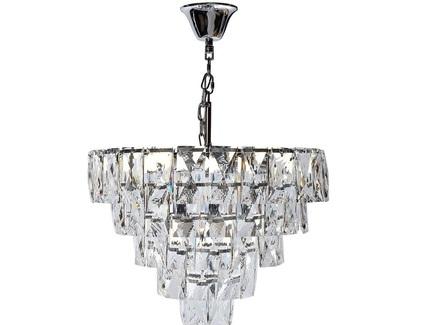 Люстра со стеклянными кристаллами (garda decor) прозрачный 28 см.