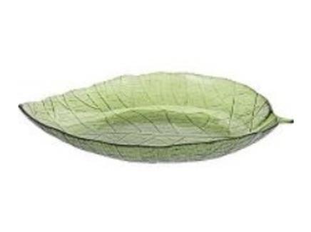 Тарелка декоративная лист (garda decor) зеленый 40 см.