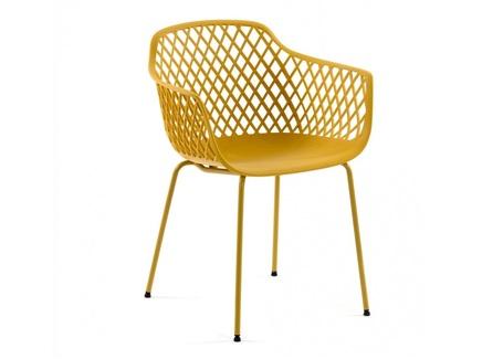Стул-кресло quinn (la forma) желтый 60x80x55 см.