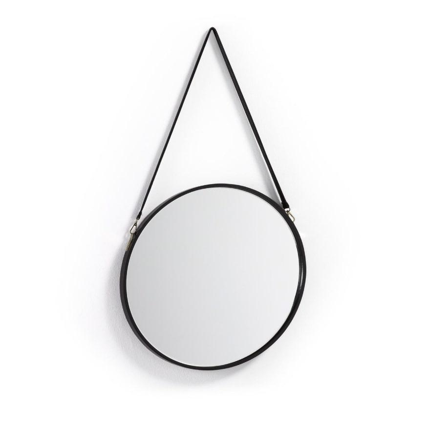 Зеркало eertrin (la forma) черный 3 см.