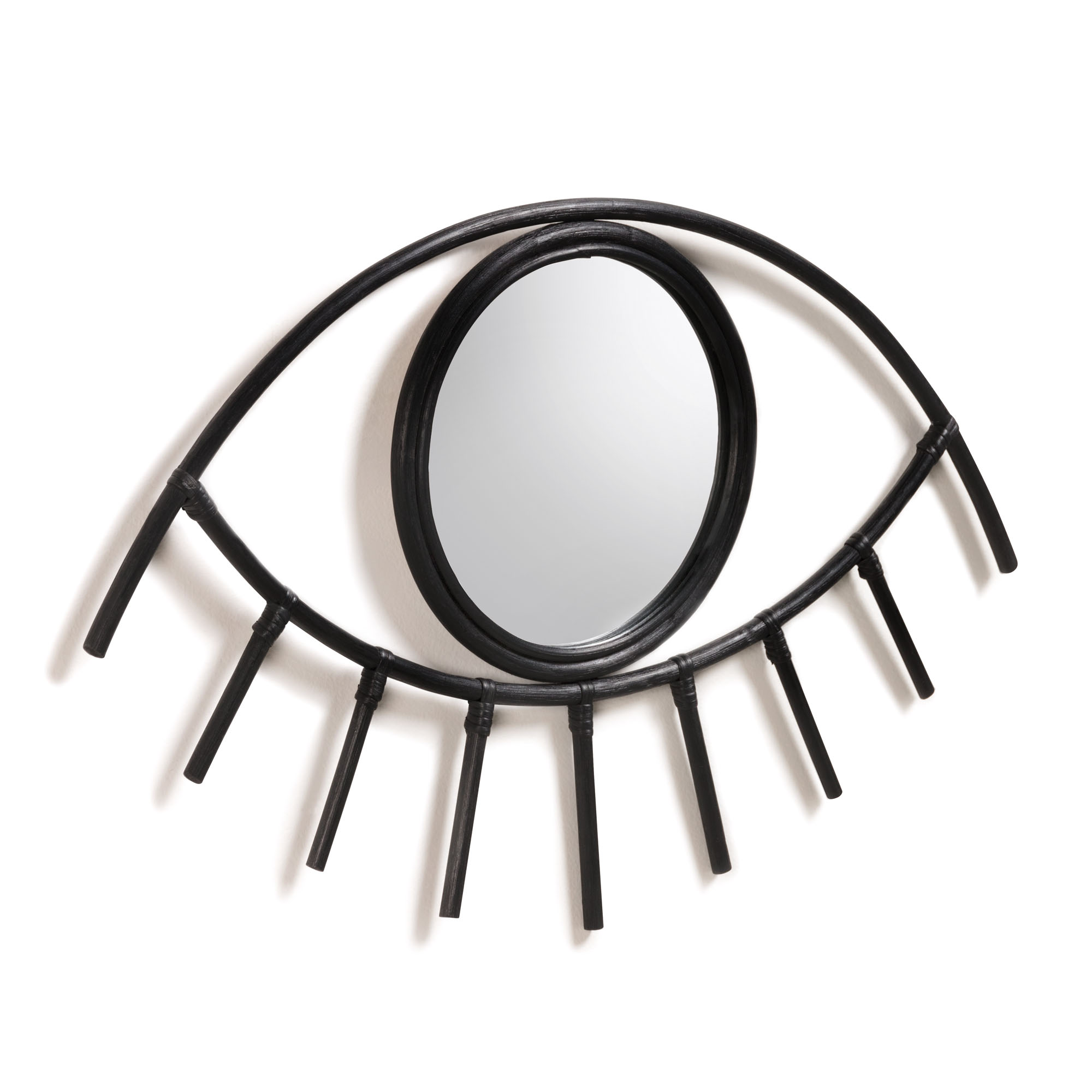 Зеркало maela (la forma) черный 72x45x2 см.