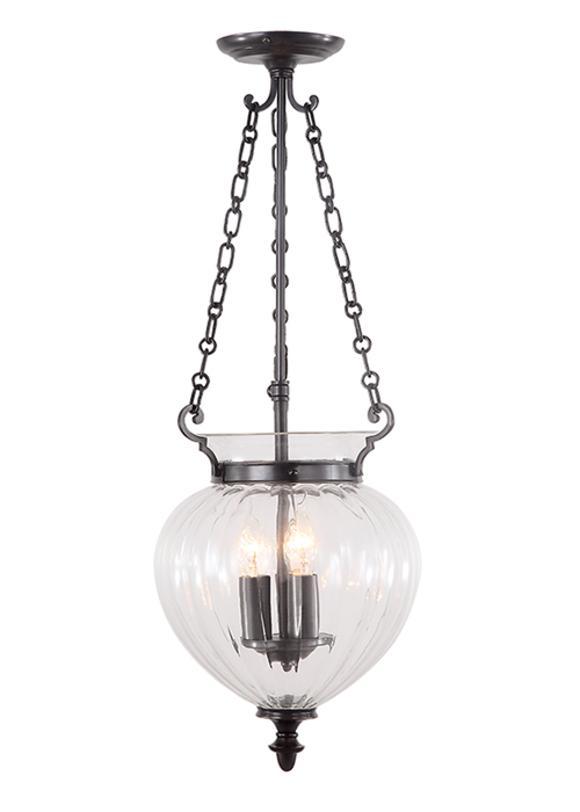 Светильник Finsbury Park PendantПодвесные светильники<br>Высота: 520/720mm<br>Мощность: 3 x 60W<br>Цоколь: E14<br><br>Material: Бронза<br>Height см: 72<br>Diameter см: 27.5