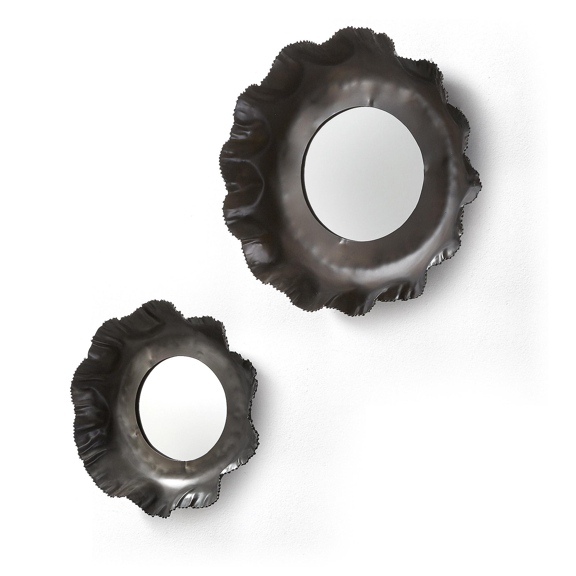 Комплект зеркал karlo (2 шт) (la forma) черный 10 см.