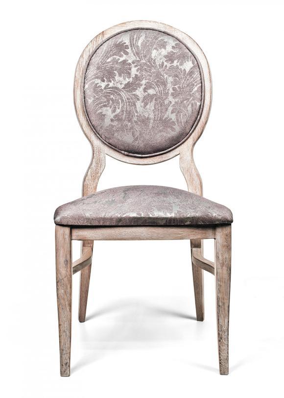 Стул без ручекОбеденные стулья<br>Материал: выбеленный массив дуба,<br>Обивка: ткань<br><br>Material: Текстиль<br>Width см: 51<br>Depth см: 55<br>Height см: 104