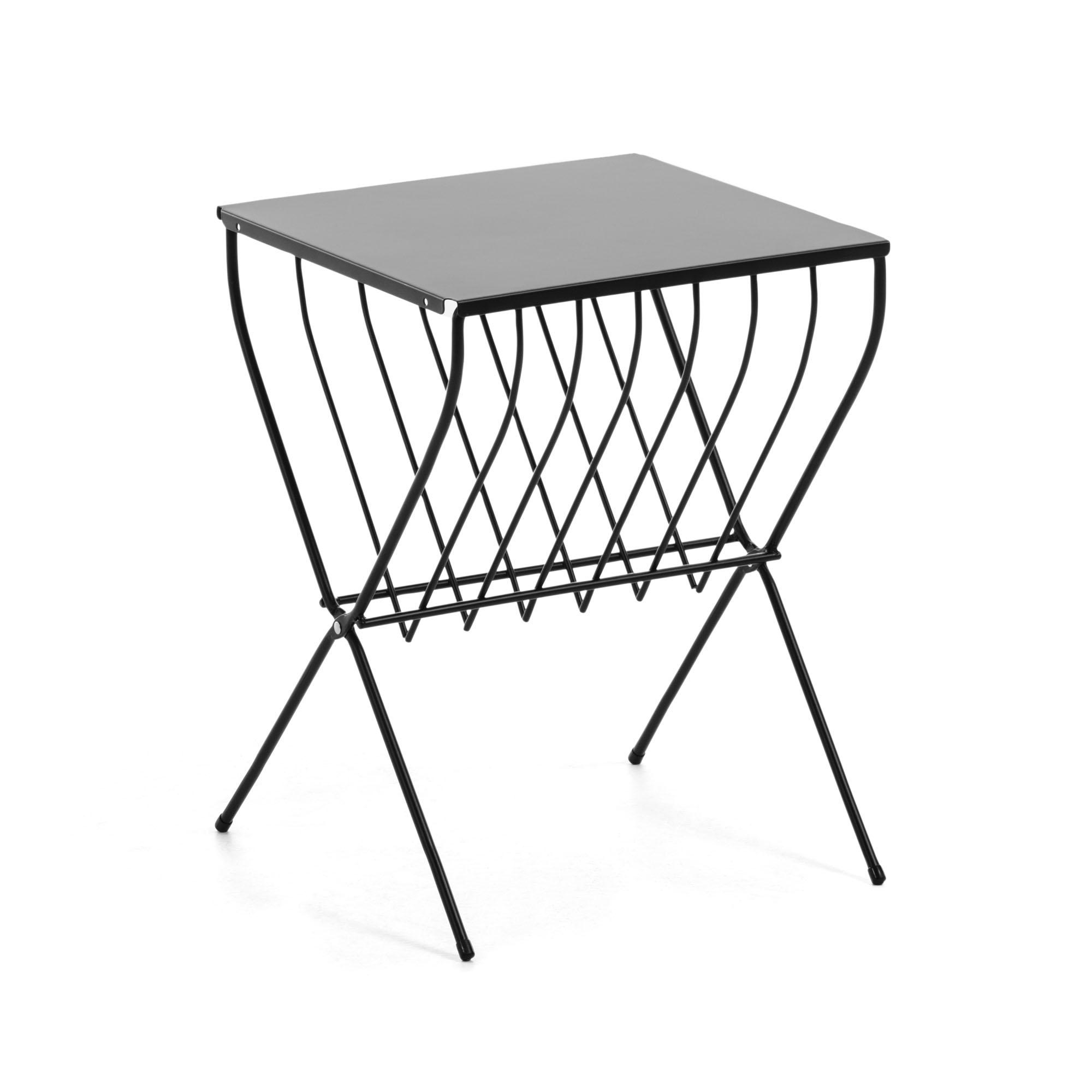 Столик приставной mairy (la forma) черный 36x51x41 см.