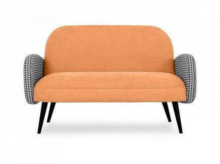 Диван двухместный bordo (ogogo) оранжевый 130x80x82 см.
