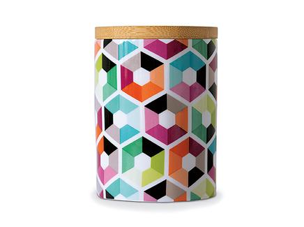 Банка фарфоровая hexagon (remember) мультиколор 11 см.