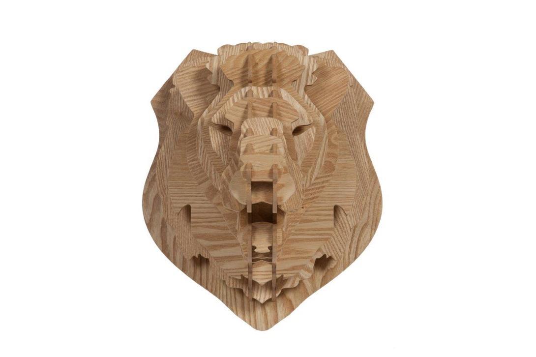 Декоративная голова льва Barlok SandФигуры<br><br><br>Material: МДФ<br>Ширина см: 32<br>Высота см: 39<br>Глубина см: 27