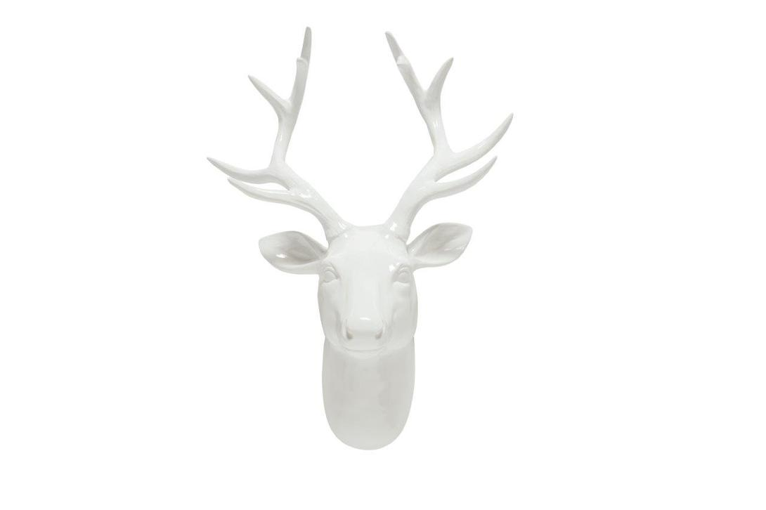 Декоративная голова оленя Alonso WhiteФигуры<br>Цвет: белый<br><br>Material: Пластик<br>Width см: 34.5<br>Depth см: 18<br>Height см: 45