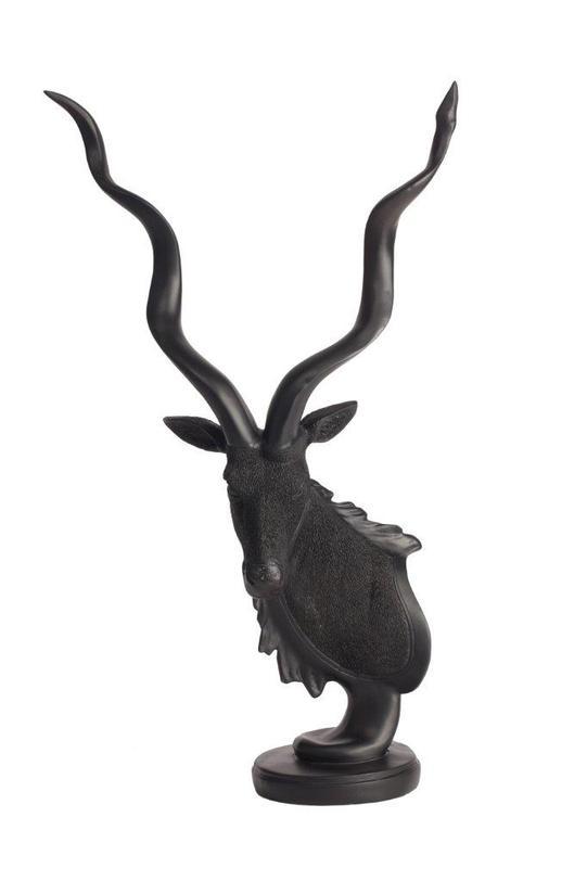 Декоративный бюст антилопы LouisСтатуэтки<br>Цвет: черный<br><br>Material: Пластик<br>Length см: 32.5<br>Width см: 18<br>Height см: 52