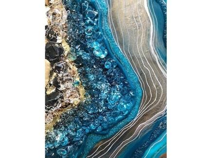 Картина (kovka object) синий 70.0x60.0 см.
