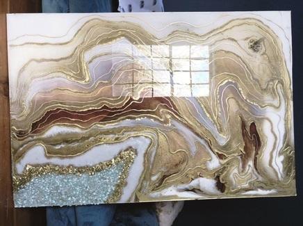 Картина (kovka object) золотой 60.0x120.0 см.