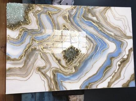 Картина (kovka object) голубой 60.0x100.0 см.