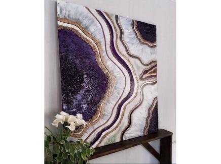 Картина (kovka object) фиолетовый 120.0x120.0 см.