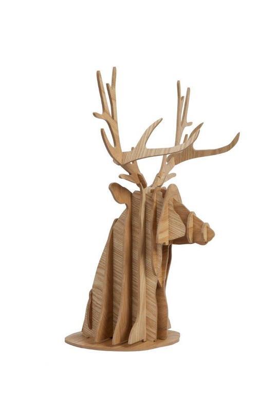 Декоративная голова оленя PaulСтатуэтки<br>Цвет: песочный<br><br>Material: МДФ<br>Length см: 32<br>Width см: 45<br>Height см: 55