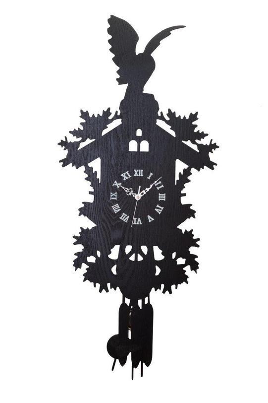 Настенные часы с маятником Domestic Puzzle Black IНастенные часы<br>Цвет: черный<br><br>Material: МДФ<br>Length см: None<br>Width см: 47.0<br>Depth см: 7.0<br>Height см: 85.0<br>Diameter см: None