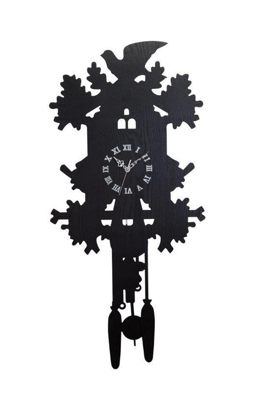 Настенные часы с маятником Domestic Puzzle Black IIНастенные часы<br>Цвет: черный<br><br>Material: МДФ<br>Ширина см: 47<br>Высота см: 87<br>Глубина см: 7