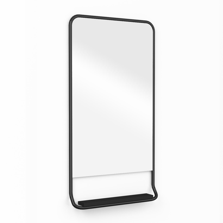 Зеркало настенное bauhaus (woodi) черный 48x90x10 см.