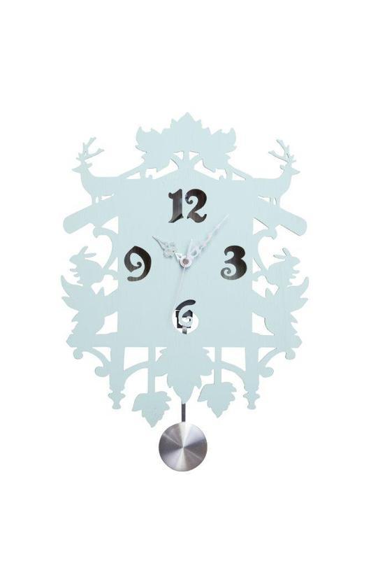 Настенные часы с маятником Puzzle BlueНастенные часы<br>Цвет: светло-голубой<br><br>Material: МДФ<br>Ширина см: 38<br>Высота см: 40<br>Глубина см: 7