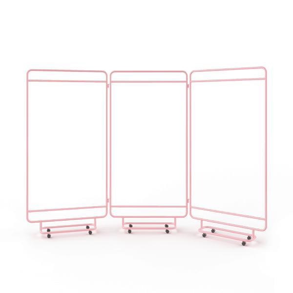 Ширма bauhaus (woodi) розовый 258x178x10 см.