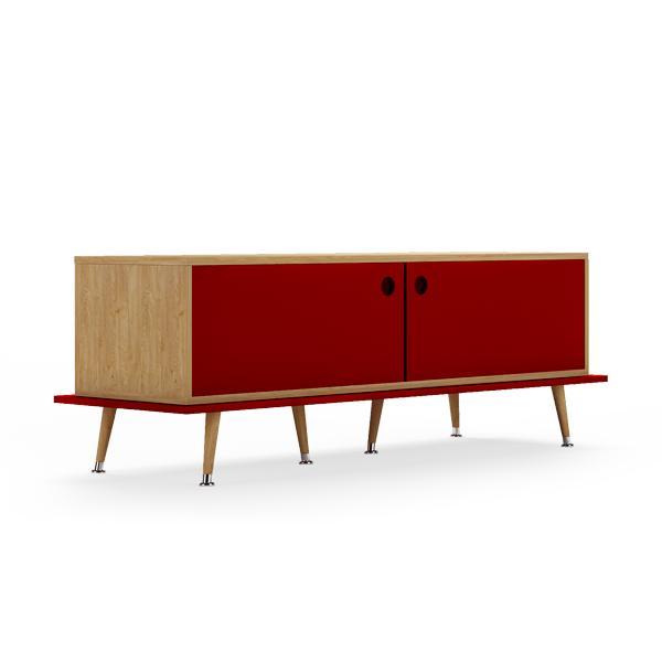 Тумба woodi (woodi) красный 159x53x50 см.