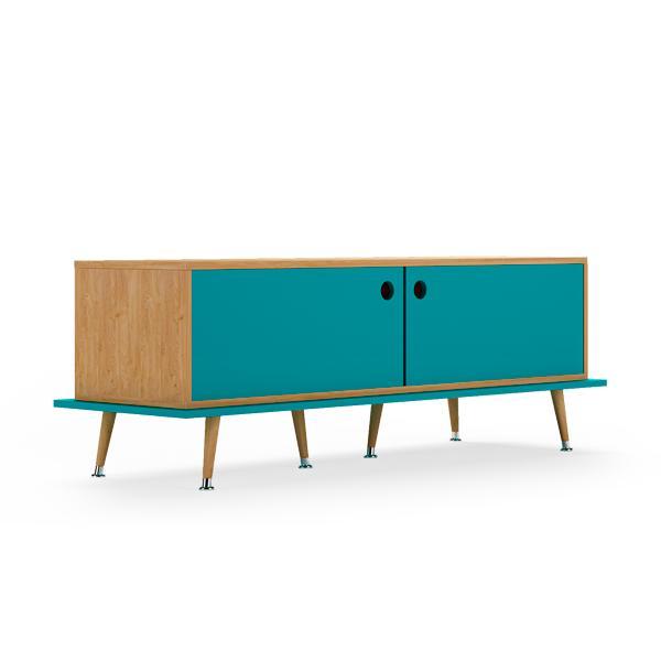 Тумба woodi (woodi) голубой 159x53x50 см.