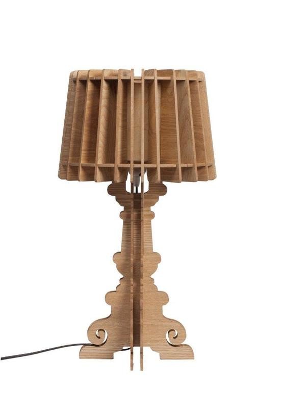 Настольная лампа Bordja GoldДекоративные лампы<br>Цвет: натуральный<br>Цоколь: Е27<br><br>Material: МДФ<br>Height см: 58<br>Diameter см: 32