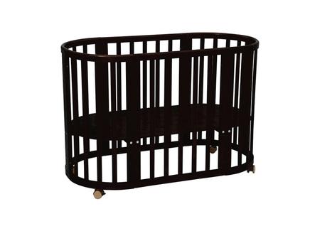 Кроватка детская polini kids simple (polini) черный 65x86x125 см.