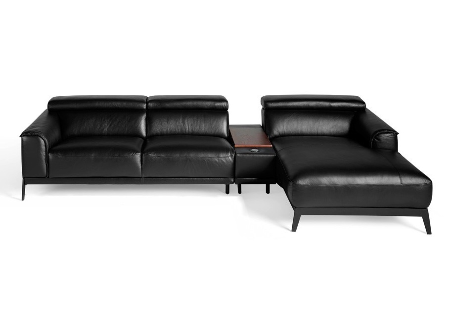 Angel cerda угловой диван kf009-r черный 119437/6