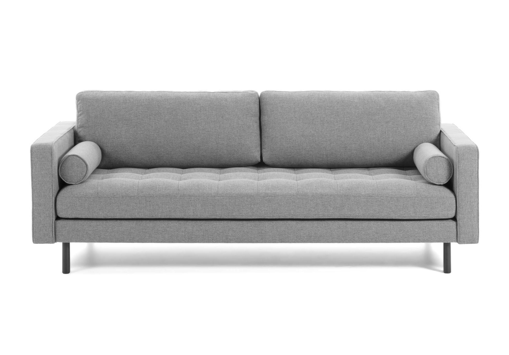 La forma диван трехместный bogart серый 119443/4