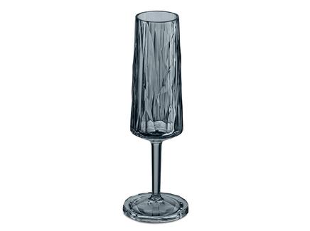 Бокал для шампанского superglas club (koziol) серый 20 см.