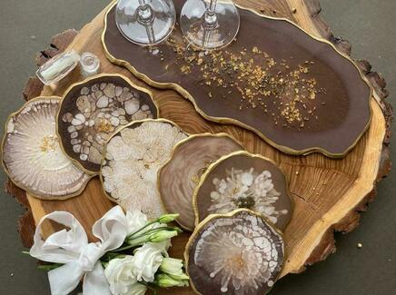 Столовый набор chocolate (kovka object) коричневый 23.0x36.0 см.