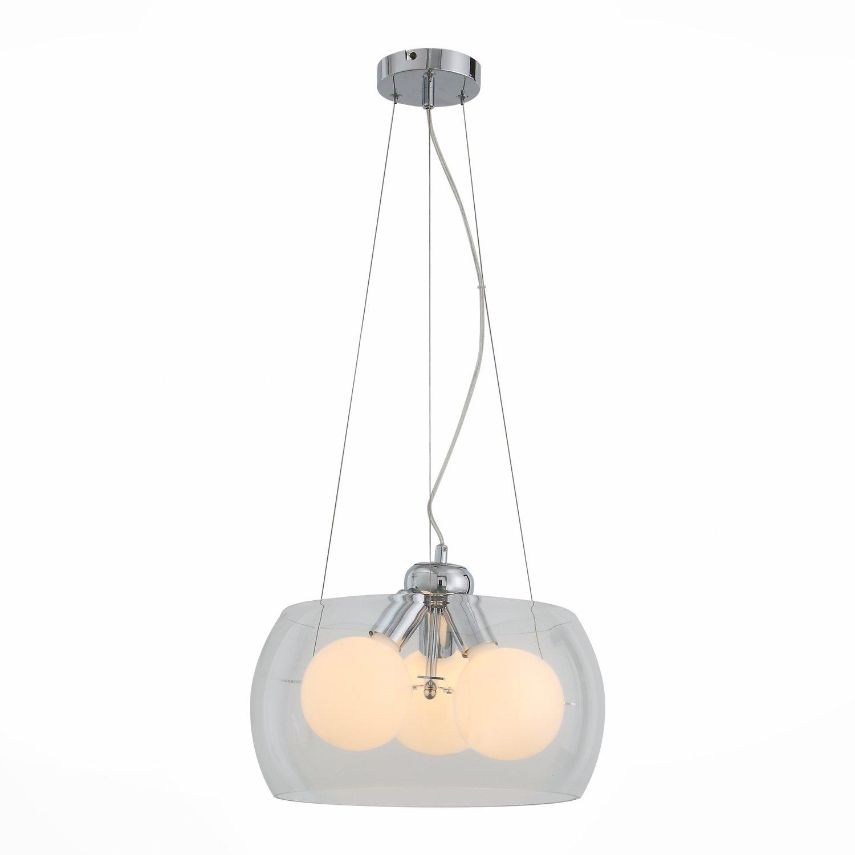 Светильник подвесной uovo (st luce) серебристый 131 см.