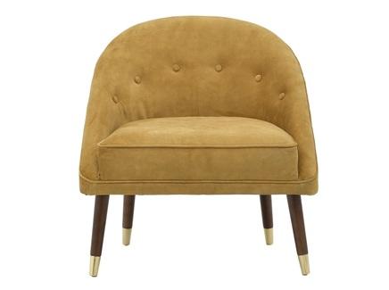 Кресло swivel (to4rooms) желтый 74.0x78.0x70.0 см.
