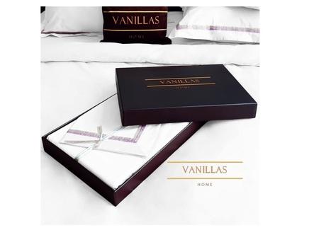 Комплект постельного белья вершины монблана (vanillas home) белый 180x210 см.