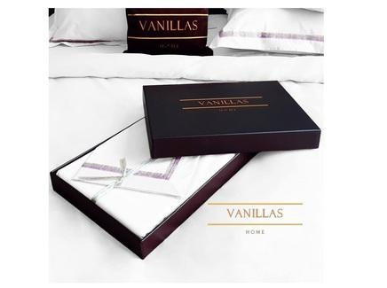 Комплект постельного белья вершины монблана (vanillas home) белый 200x220 см.